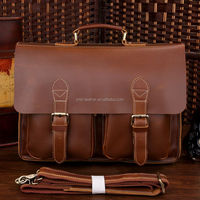 High Quality Genuine Leather Men's Briefcase Men Leather Executive Bags 7105X-1