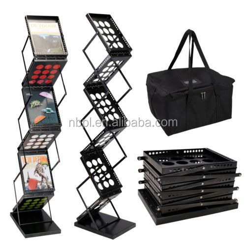 Black magazine holder, floor stand book holder