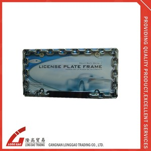 zinc alloy European America USA Auto Car and motorcycle number Plate Frame name license plate frame customized advertised