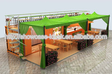40 GP container food kiosk | food kiosk design with machines layout | outdoor container food kiosk design