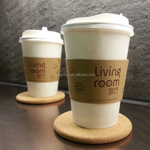 Disposable custom printed logo paper hot coffee cup sleeve
