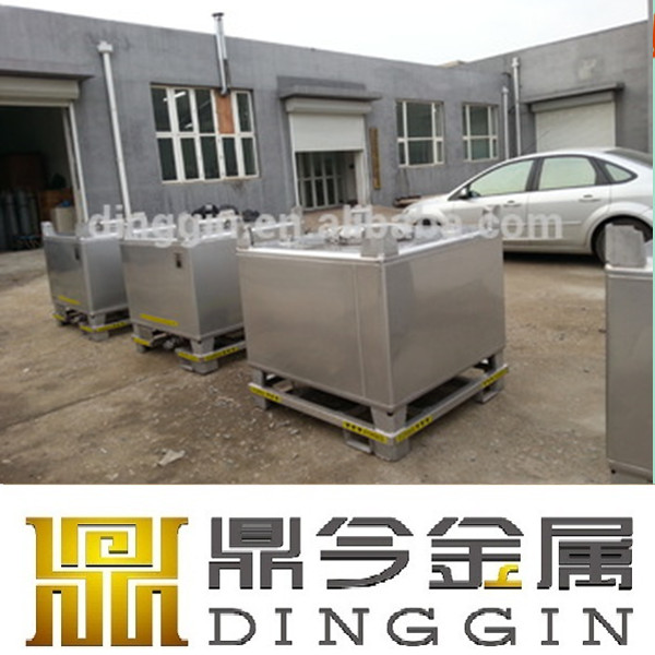 UN approval customized stainless steel intermediate bulk containers for sale