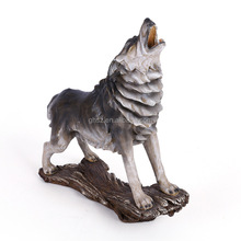 Only supply high quality customize polyresin howling wolf figurine