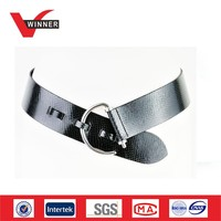 Black leather hip belts for women