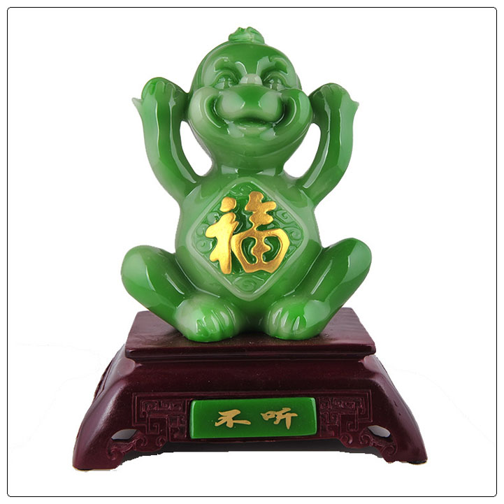 Resin color monkey statue ,chinese zodiac statue 3 Color