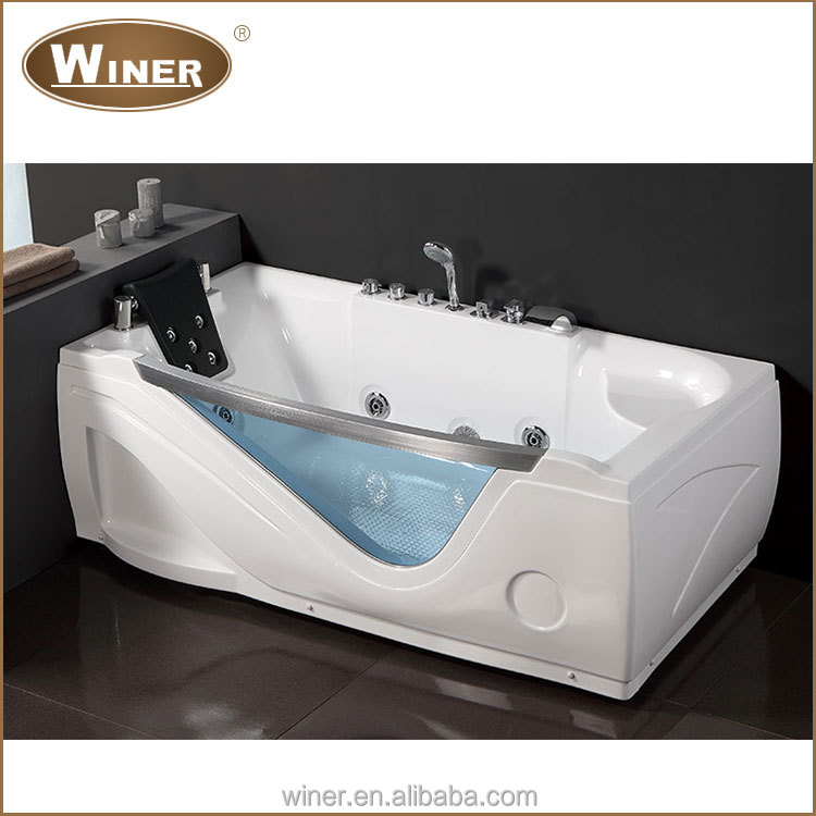 2016 White Oval Shaped Freestanding Acrylic Bath Tub Cheap