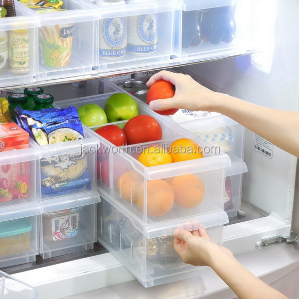 Refrigerator and Freezer Stackable Storage Organizer