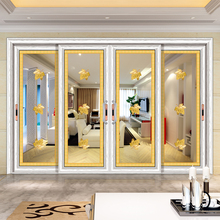 HS-JY8098 interior decorative painted glass wardrobe chinese sliding door