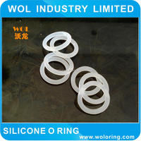 clear transparent food grade silicone o-ring