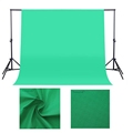 Factory Supply Photography 3x3m Cotton Green Screen Chromakey Muslin Background Fabric Backdrop