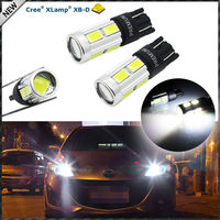 360 Degrees Xenon White 3W CRE E w/ 8-SMD Error Free T10 W5W 168 194 2825 912 921 LED Bulbs For Parking Postion Lights