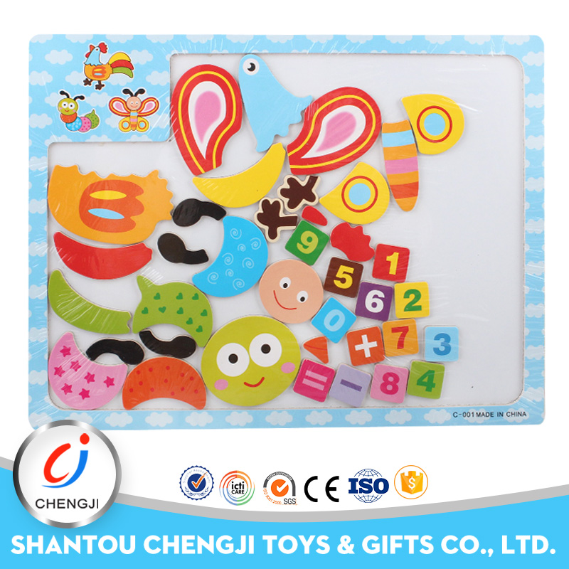 2017 new popular educational magnetic jigsaw puzzle for kids