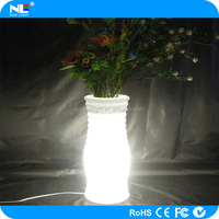 2016 smart App remote control new decorative led planter pot,garden flower pots LED flower light pot