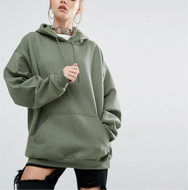 2016 Women High Quality Oversized Fleece Pullover Hoodie and Sweatshirts HSS2536