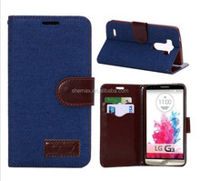 Durable Style PU Leather Case for LG G3 Case
