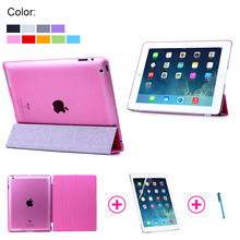 For iPad 2 3 4 Hign Quality Slim Thin Magnetic Leather Smart Wake/Sleep Cover Flip Case