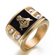 JM-22 Mason Jewellery Hand Gents Diamond Ring Design Gold Letter Ring Prices