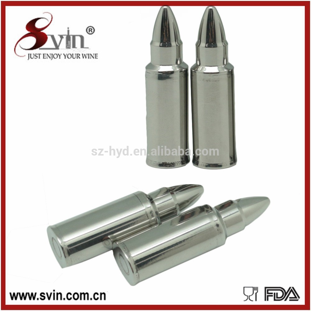 NT-WI010 stainless steel bullet shaped ice cubes christmas whiskey stones