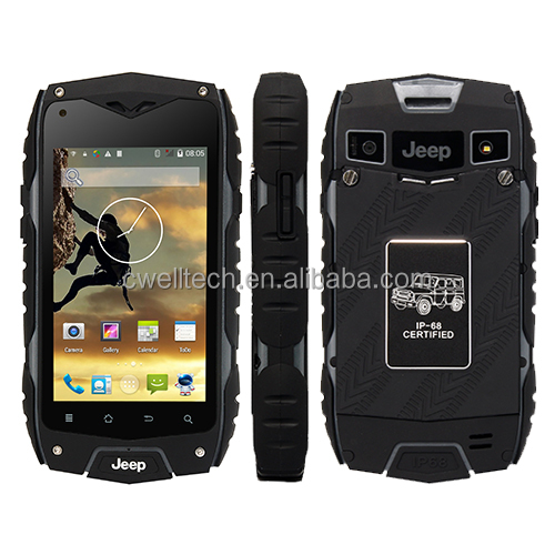 Original Jeep Z6+ MTK6582 quad core 4.0 inch Mobile Phone Android 4.2 IP68 Waterproof Dustproof Shockproof Smartphone GPS