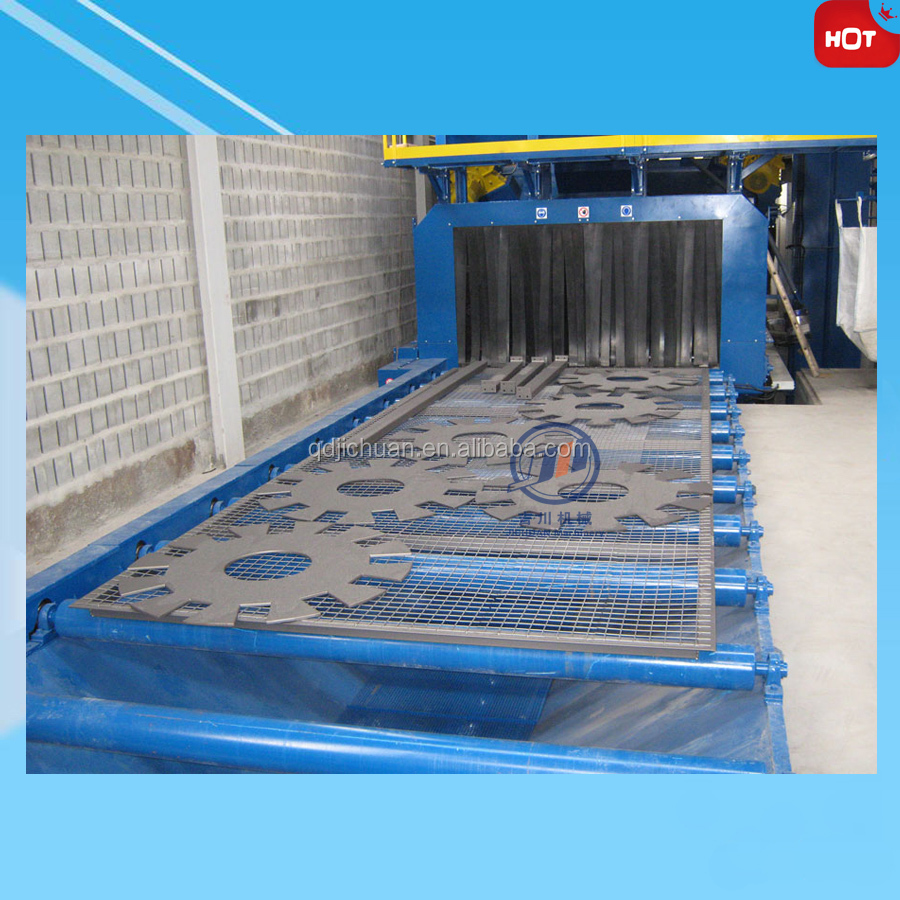 Automatic Steel Casting Surface Rust Removal Steel Wire Mesh Belt Shot Blast Machine