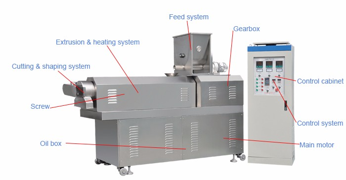 Toasted Extrusion Breakfast Cereals Corn Flakes Machine