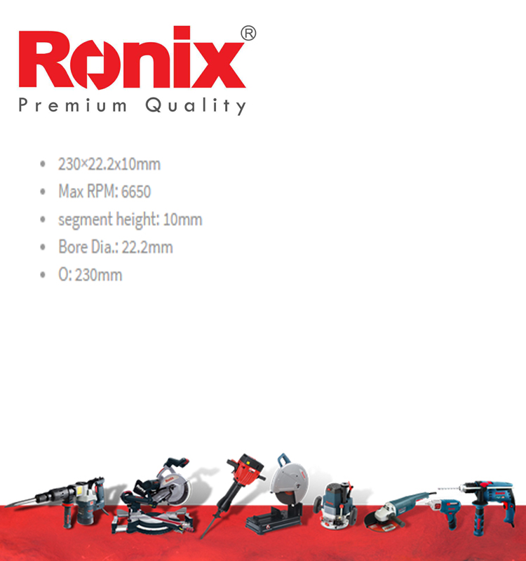 RONIX NEW DESIGN Ceramic precise cutting grinding disk in stock