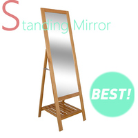 standing floor mirror for dressing made by wood
