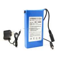 12V/ 6800 mah lithium-ion rechargeable battery