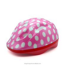 DrBike portable light pink pop dot kids riding helmet for girl protect JKHE026