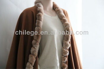 cashmere fur edged pashmina shawls wraps