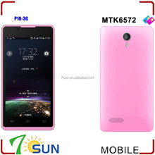 Pink 4.5 Inch Screen Android 4.2 MTK6572 DualCore 1.2GHz 3G GPS Smartphone P10 smart phone download whatsapp