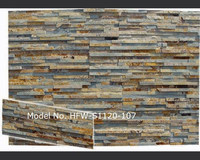 Thin stacked terracotta earth slate stone veneer panels