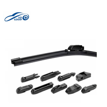 Screw type wiper blades with Soft Boneless for Hot sale black wiper blade