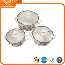 6pcs carbon steel amc price china manufacturing enamel pots giken cookware