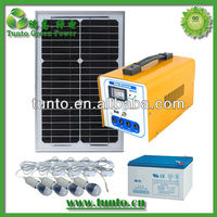 16W solar pannel system for home lighting power supply and charging electricity