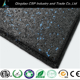 Heavy duty rubber gym mat floor black with blue epdm speckles color