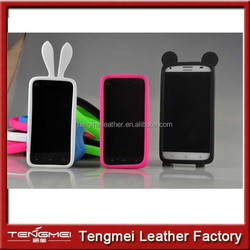mobile phone universal TPU frame case, universal phone case with lovely animal ear