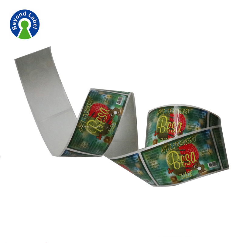 Waterproof Printing Glossy Juice Bottle Labels