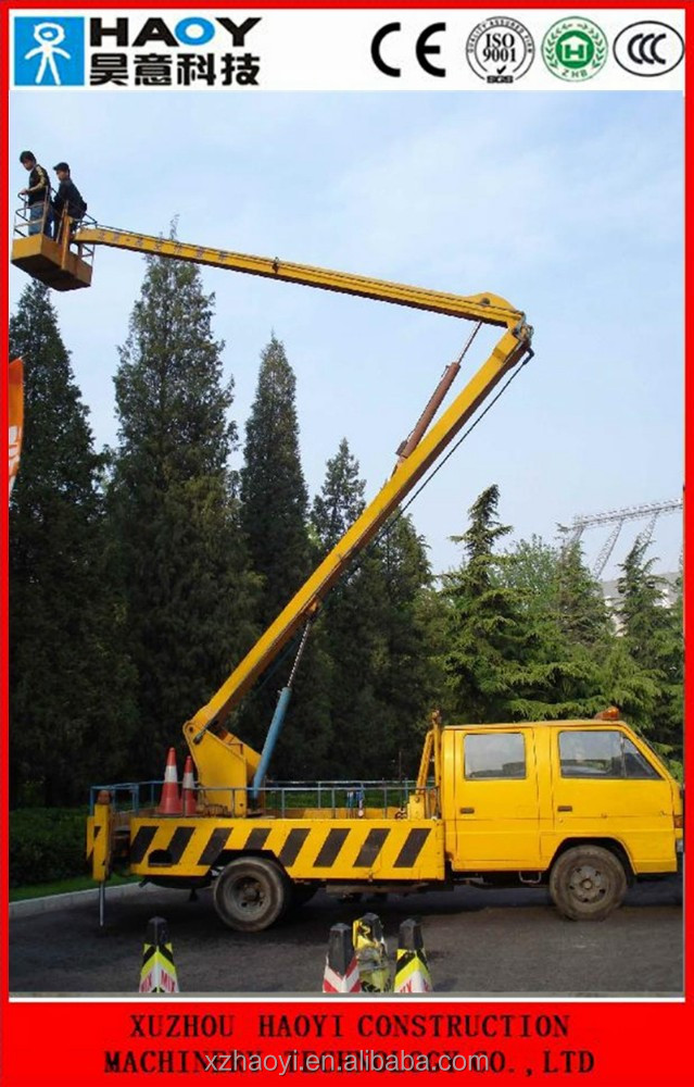 18m small aerial working platform high-attitude operation truck with radio remote control for sale