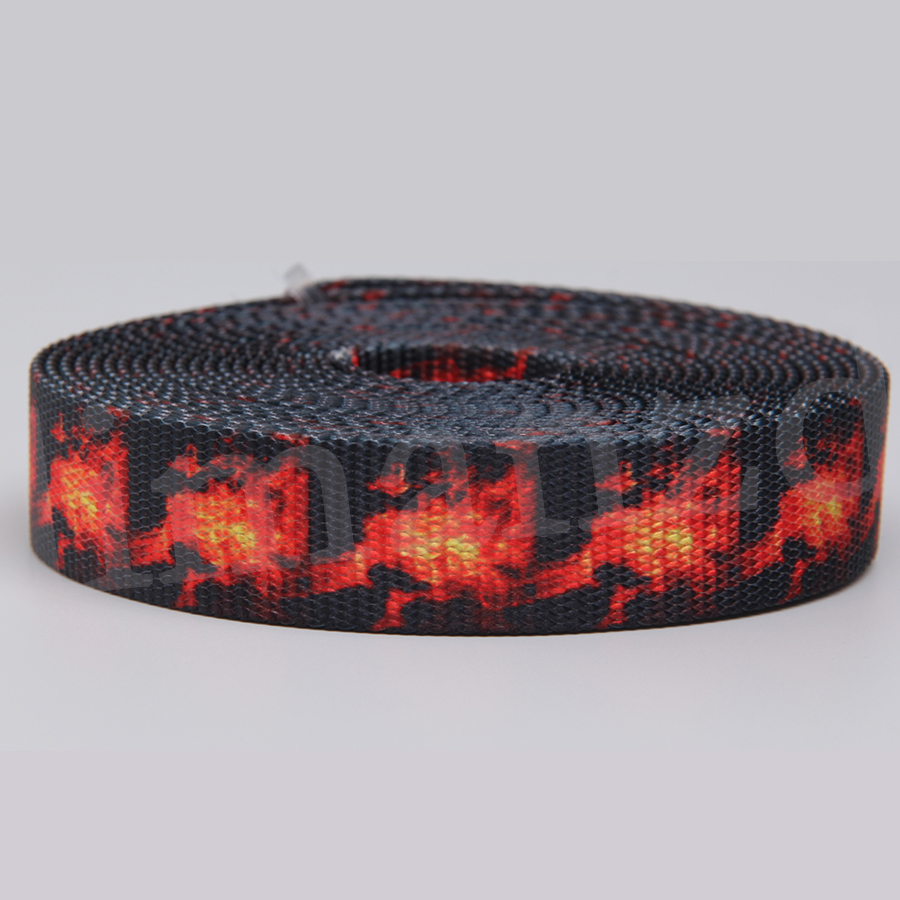 "1"" printing polyester webbing with file printing for military webbing belt thick webbing"