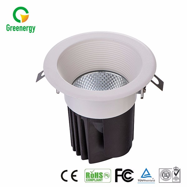 High Performance Indoor LED COB Downlight Recessed Downlight 20W 80lm/W With Aluminum Body