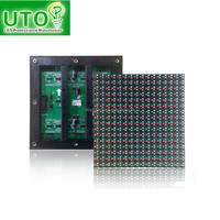 High quality p10 outdoor full color display module with data cable and power cable