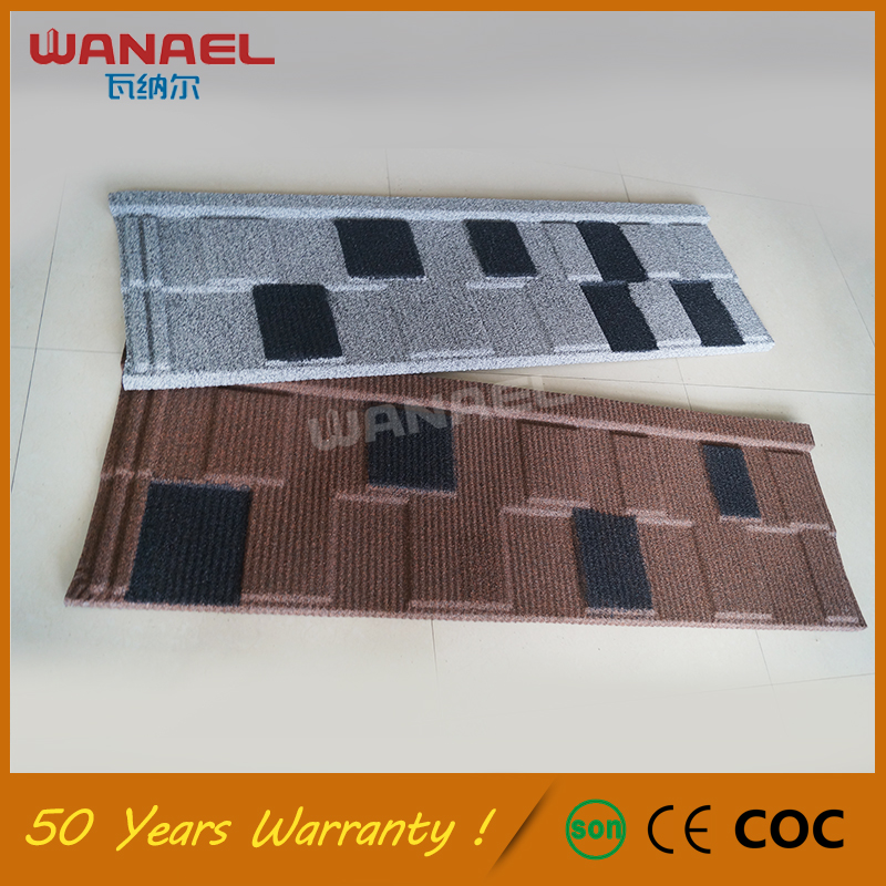 Material Roofing 50-Year Warranty Wanael Shingle Stone Coated Metal Corrugated Roof Tile, Lightweight Red Clay Roof Tiles Prices