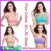 New arrivial padded sexy seamless yoga sport bra