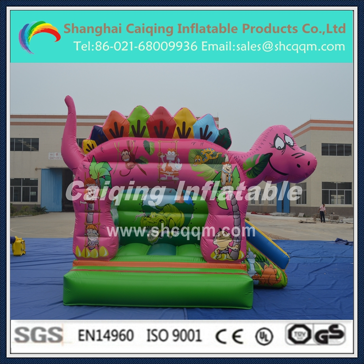 2015 inflatable pink dinosaur bouncer