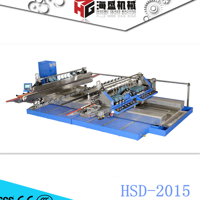 HSD 2015 Glass Straight Line Double Edging Machine CE For Flat Glass Edging
