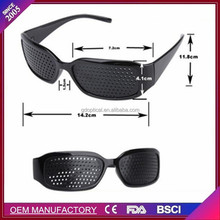 Cheap wholesale black basic pinhole glasses