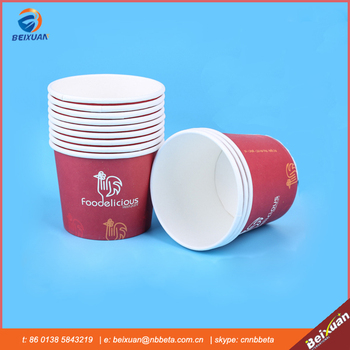 Fast food paper container with food grade PE coated, best for take away food package