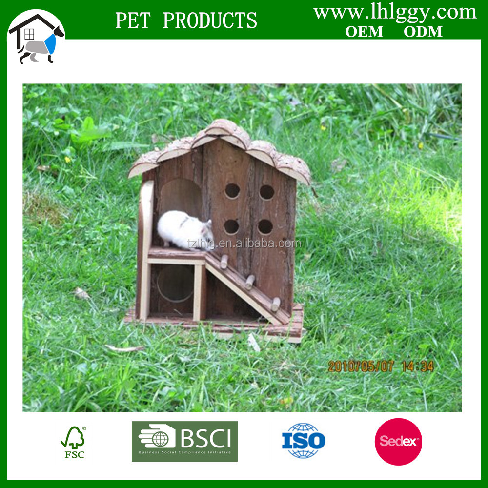Wooden Hamster House With Stairs