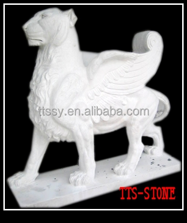 big flying stone lion and snake statue